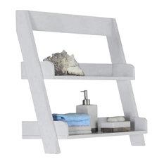 "Bathroom Accent, 24""H / White Wall Mount Shelf"