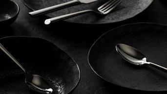 Ceramic Black Artisan Dinner Plate set