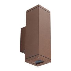 Teka Rust Brown Outdoor Wall Light, GU10