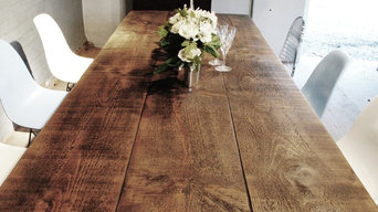 Bespoke A Frame dining table made from reclaim wood