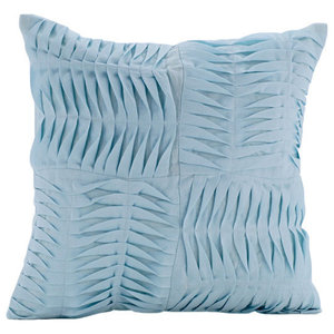 Blue Textured Pintucks 30x30 Cotton Linen Cushions Cover, Open To the Sky