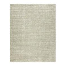 TERRA Nickel Hand Made Wool and Silkette Area Rug, Beige, 12'x15'