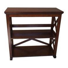 Warm Chestnut 2-Shelf Bookcase