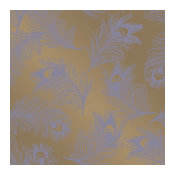 Feathers Hollywood Regency Gold Lavender Removable Wallpaper