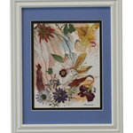 "Nature Artist - Windy Day, Oshibana Art - * Oshibana (pressed plants) artwork in a 12"" x 15"" white frame."