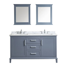 "60"" Nantucket Double Sink Vanity Set, Whale Gray"