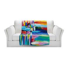 "Color Stripes 4 Sherpa Pile Blanket, 60""x50"""