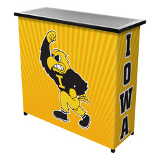 University Of Iowa Portable Bar With Case Herky