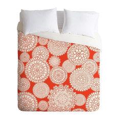 Deny Designs Heather Dutton Delightful Doilies Saffron Duvet Cover - Lightweight