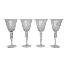 Acid-Etched Wine Glasses, Set of 4