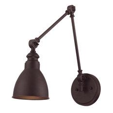 Dakota 1-Light Adjustable Sconce, English Bronze