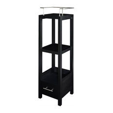Pine Wood and MDF and Hardware Cabinet, Black