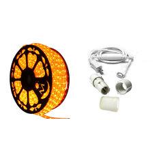 120V Dimmable LED Orange Rope Light Standard Kit, 513PRO Series
