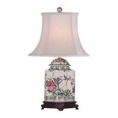 Blossoms Porcelain Jar Table Lamp