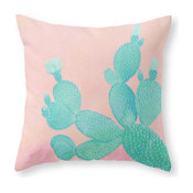 """Society6 Pastel Cactus, Throw Pillow, Indoor Cover, 18""""x18"""""""
