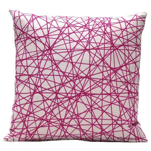Pink Scribble Cushion, 40x40 cm