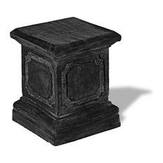 Paneled Pedestal, Charcoal