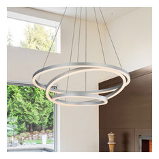 "VONN VMC32500 Tania Trio 32"" Wide 3000K LED 3 Tier Multi Ring Chandelier"