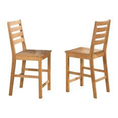 Cfs-Oak-W, Cafe Pub Dining Chairs, Set Of 2