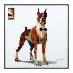 """""""The Boxer"""" Reverse Printed Art Framed With Black Anodized Aluminum"""