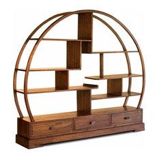 Buddha Solid Wood Bookcase