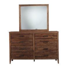 Standard Furniture   Cresswell Brown Dresser Mirror   Dressers