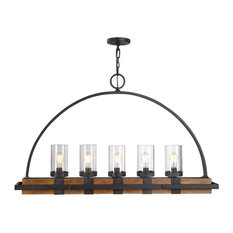 Uttermost Atwood, Uttermost Atwood 5-Light Rustic Linear Chandelier