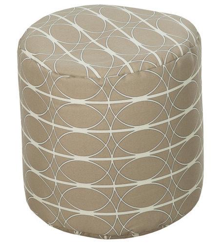 Surya Poufs- (POUF-109) - Floor Pillows And Poufs