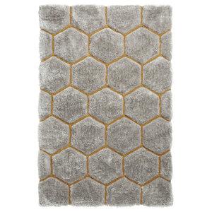 Nobel House Grey Yellow Rectangular Funky Rug, 150x230 cm