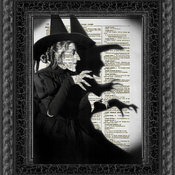 Wicked Witch Dictionary Art Print by Reimagination Prints