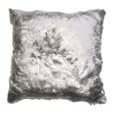 Aviva Suri Alpaca Pillow, Silver