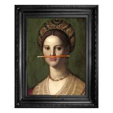 "Mineheart - ""The Orange Pencil"" Canvas Print, 66x81 cm - Prints & Posters"