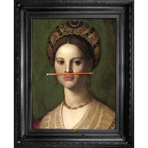 """The Orange Pencil"" Canvas Print, 66x81 cm"