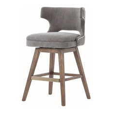 Four Hands Furniture - Ashford Task Stool, Dark Moon Canvas, Counter Height - Bar Stools and Counter Stools
