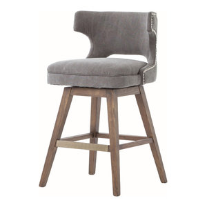 Ashford Task Stool, Dark Moon Canvas, Counter Height