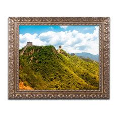 "Philippe Hugonnard 'Great Wall VII' Ornate Framed Art, 20""x16"""