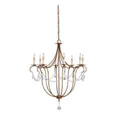 Currey and co chandeliers houzz currey company inc currey co 9881 crystal lights rhine gold 8 mozeypictures Image collections