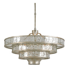 Currey and co chandeliers houzz currey company inc currey co 9597 frappe silver granello 3 light audiocablefo