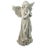 """29.5"""" Angel Standing in Prayer Outdoor Garden Statue"""