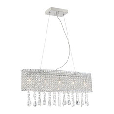 Chandelier in Chrome with Crystal Decor