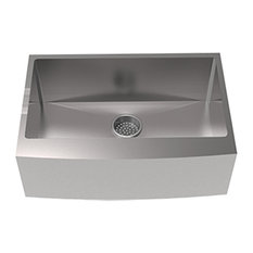 "Rivage 30""x21"" Stainless Steel, Single Basin, Farmhouse Kitchen Sink With Apron"