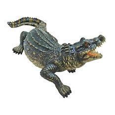 """25""""W Tropical Alligator Crocodile Statue Scultpture"""