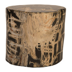 Cast Petrified Stool, Black