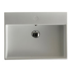 """Unlimited 60 Wall Mount Bathroom Sink 23.6"""", Without Faucet Hole"""
