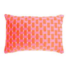 Gwen Lumbar Cut Velvet Pillow