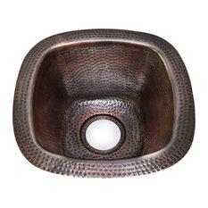 Houzer Hammerwerks Series Copper Undermount Bar Sink, Copper