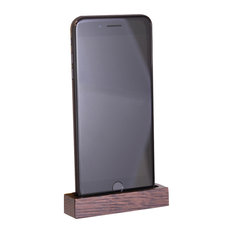 Oak Phone Dock, Stained, Small