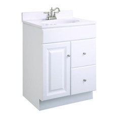 Design House   Wyndham White Semi Gloss Vanity Cabinet With 1 Door And 2