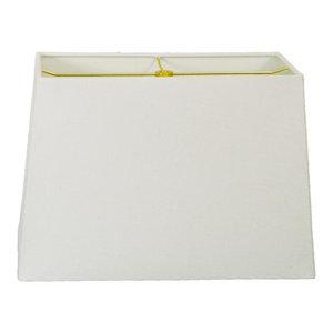 Rectangle Hard Back Lamp Shade, Linen Beige, Linen White, (7x14)x(9x16)x11