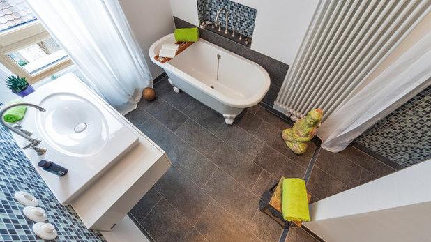 """buchtipp: """"kleine bäder – die besten lösungen bis 10 quadratmeter"""", Badezimmer"""